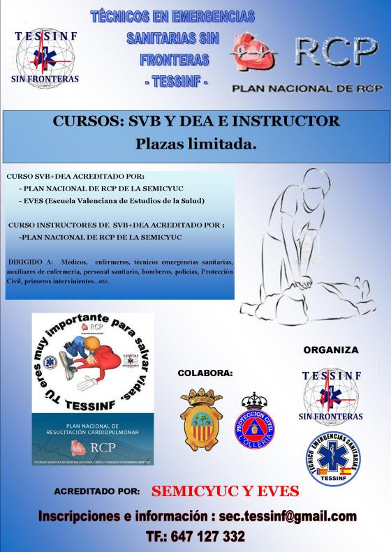 Cartel Curso Instructores Valencia