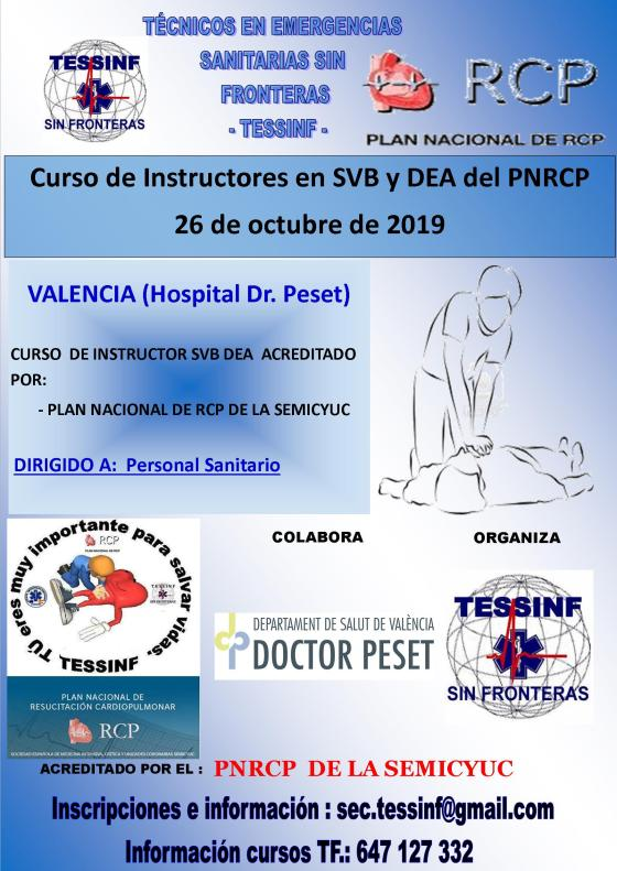 Cartel Curso SVB DEA e Instructores